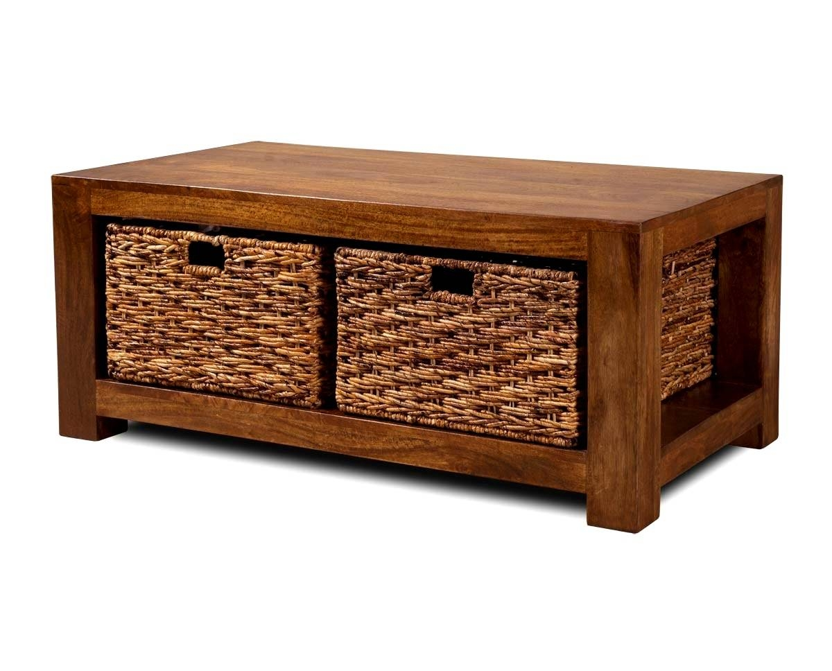 Coffee Table With Storage Baskets | Idi Design In Small Coffee Tables With Storage (View 6 of 30)