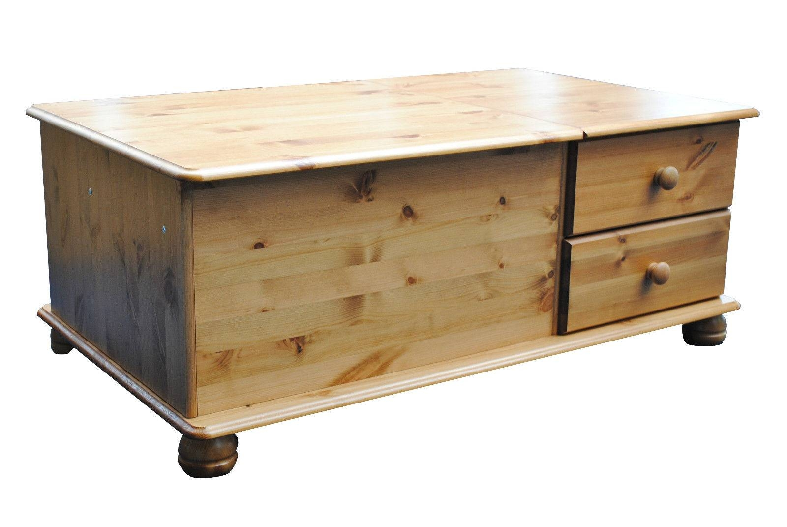 Coffee Table With Storage inside Antique Pine Coffee Tables (Image 12 of 30)
