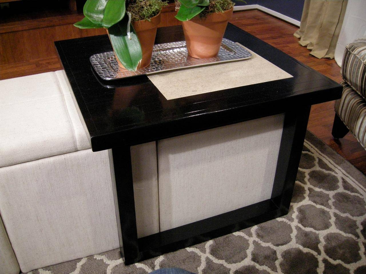 Coffee Table With Storage Stools. . Best Black Small Round Coffee in Coffee Tables With Basket Storage Underneath (Image 7 of 30)