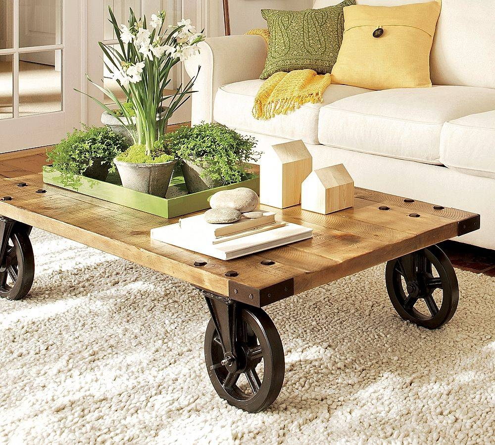 Coffee Table With Wheels | Coffee Tables Decoration throughout Glass Coffee Tables With Casters (Image 8 of 30)