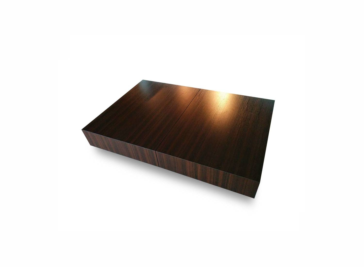 Coffee Table: Wonderful Low Profile Coffee Table Design Ideas Low inside Low Square Wooden Coffee Tables (Image 8 of 30)