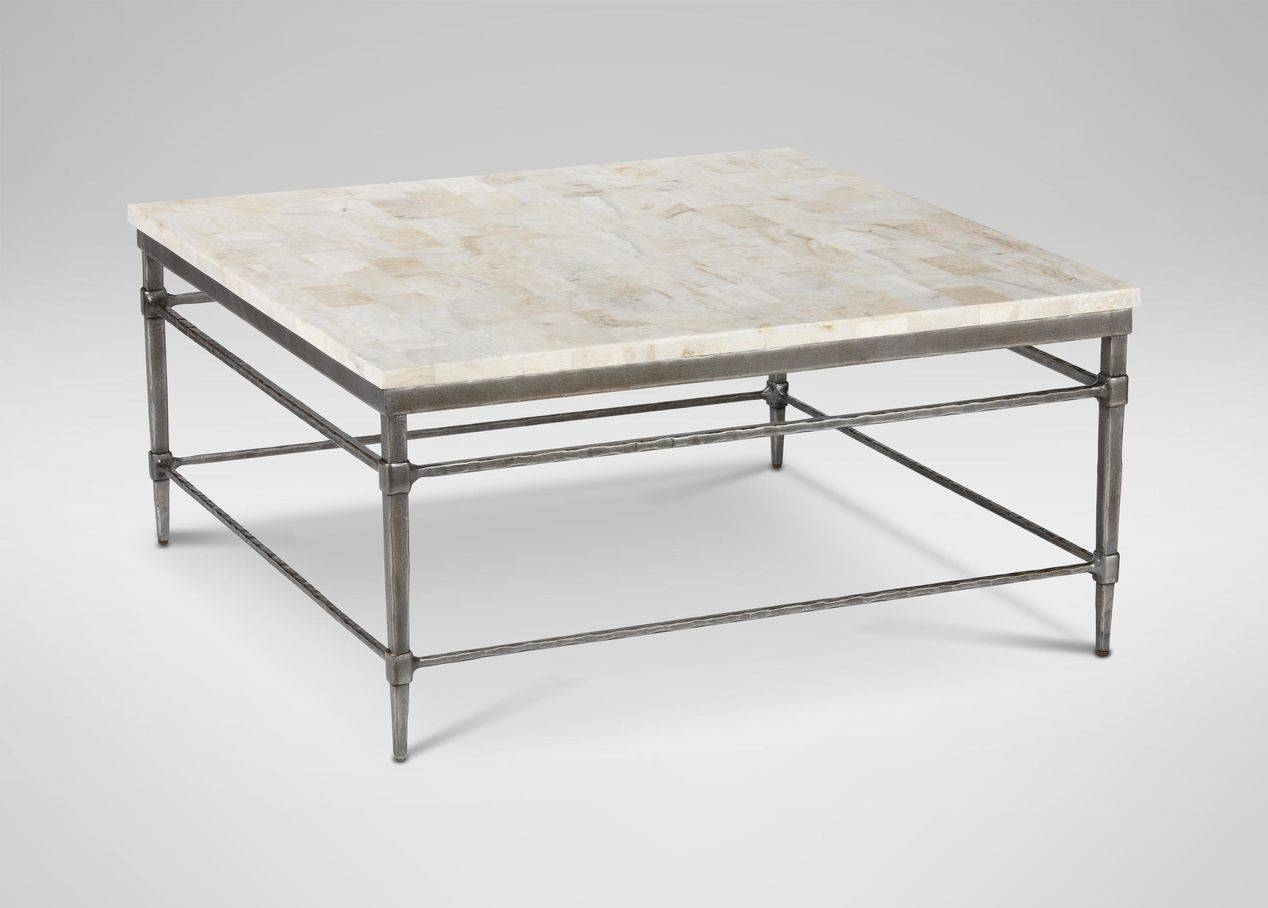 Coffee Table: Wonderful Stone Top Coffee Table Designs Stone pertaining to Square Stone Coffee Tables (Image 12 of 30)
