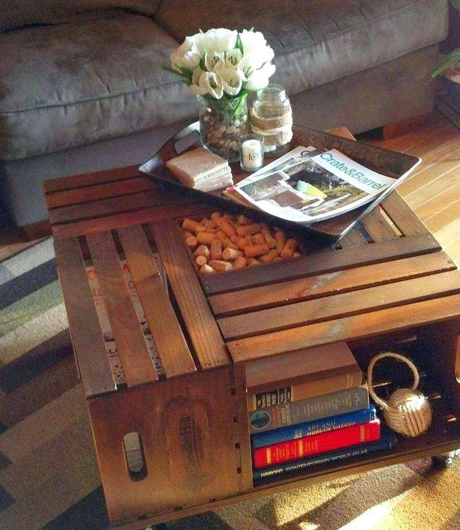 Coffee Table Wooden Chest Trunk Rustic Storage Blanket Box With Tables