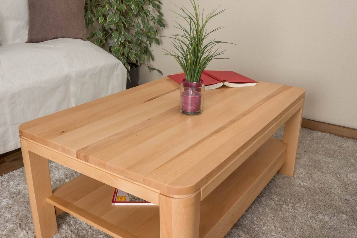 Coffee Table Wooden Nature 23, Solid Hearted Beech Wood, Oiled pertaining to Beech Coffee Tables (Image 13 of 30)