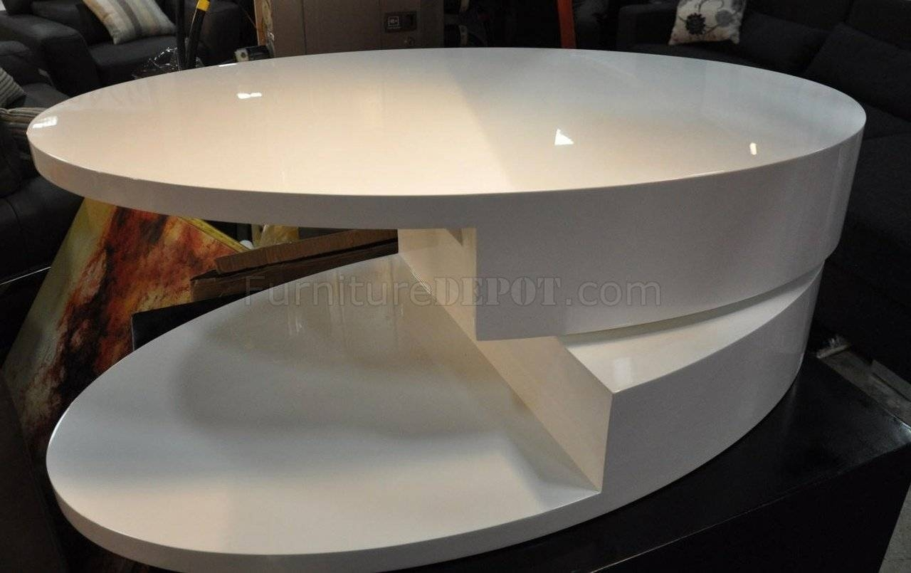 Coffee Tablebeverly Hills In White High Gloss W/options Regarding Oval Gloss Coffee Tables (View 25 of 30)