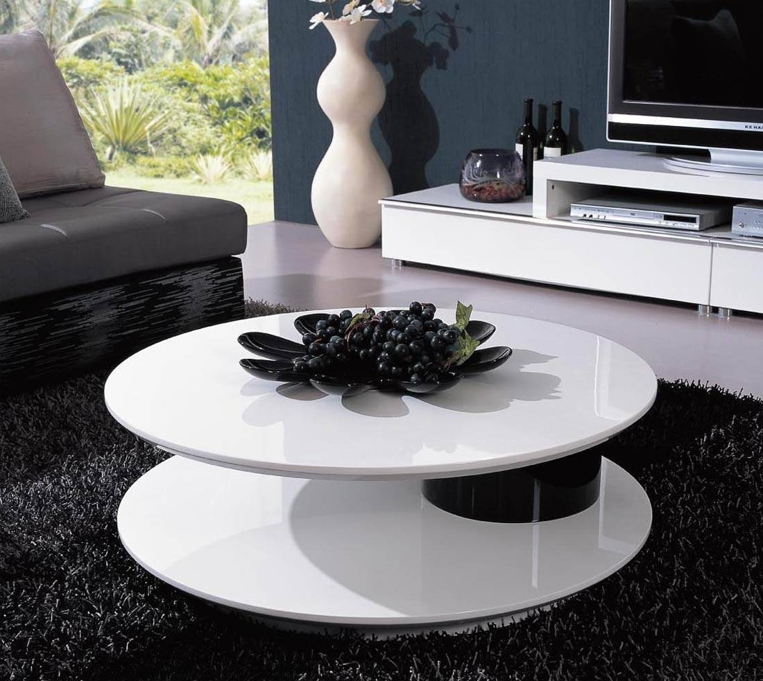 Coffee Tables: Appealing Coffee Tables Modern Designs Round Modern inside White Circle Coffee Tables (Image 13 of 30)