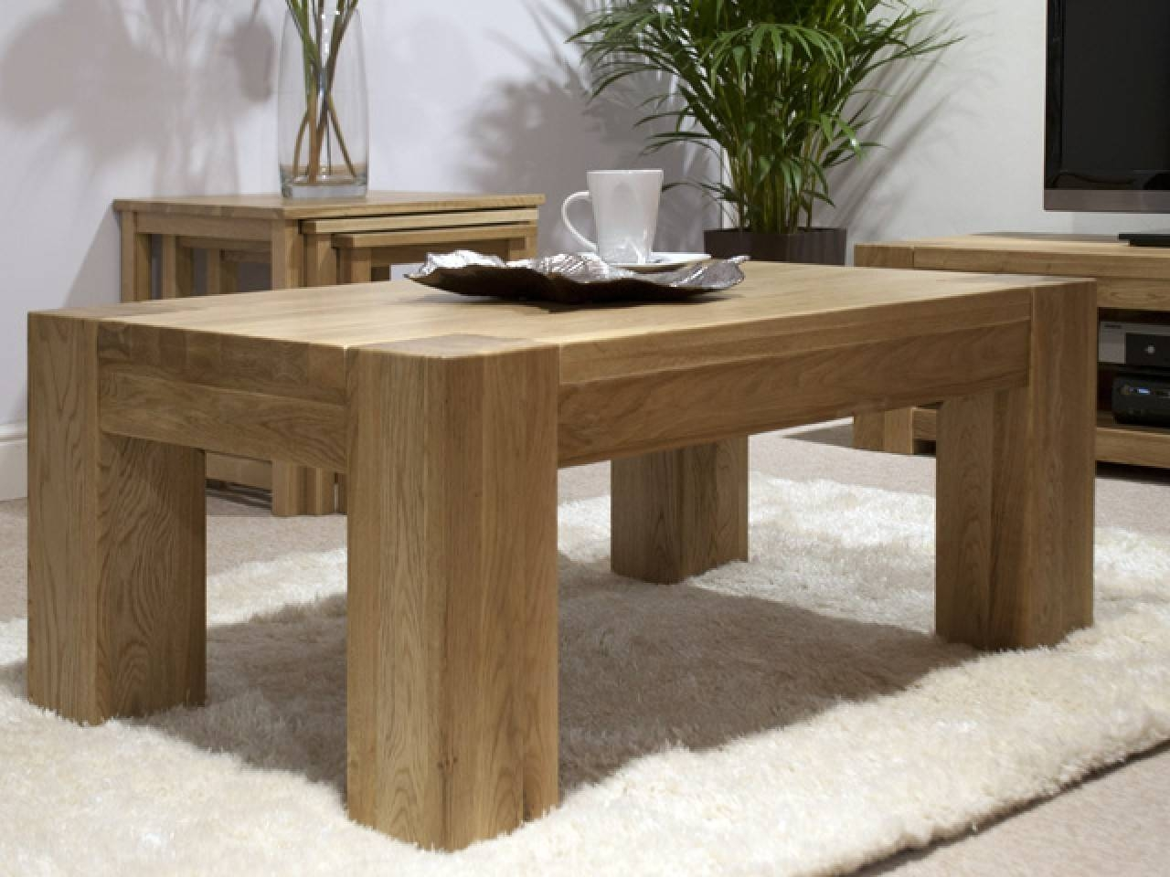 Coffee Tables: Appealing Large Coffee Tables Ideas Large Coffee with Chunky Oak Coffee Tables (Image 14 of 30)