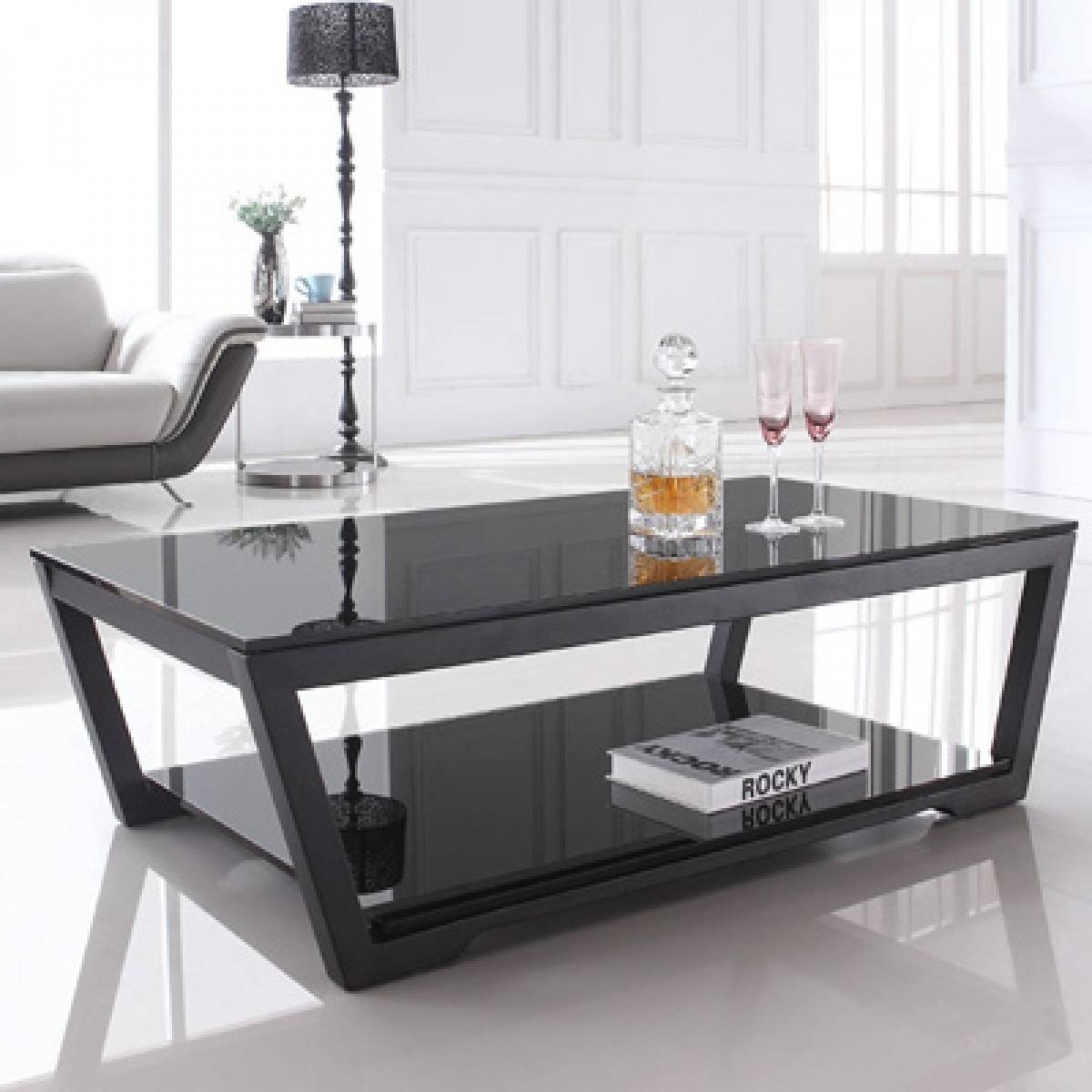 Coffee Tables. Awesome Contemporary Glass Coffee Tables Designs intended for Black Wood and Glass Coffee Tables (Image 9 of 30)