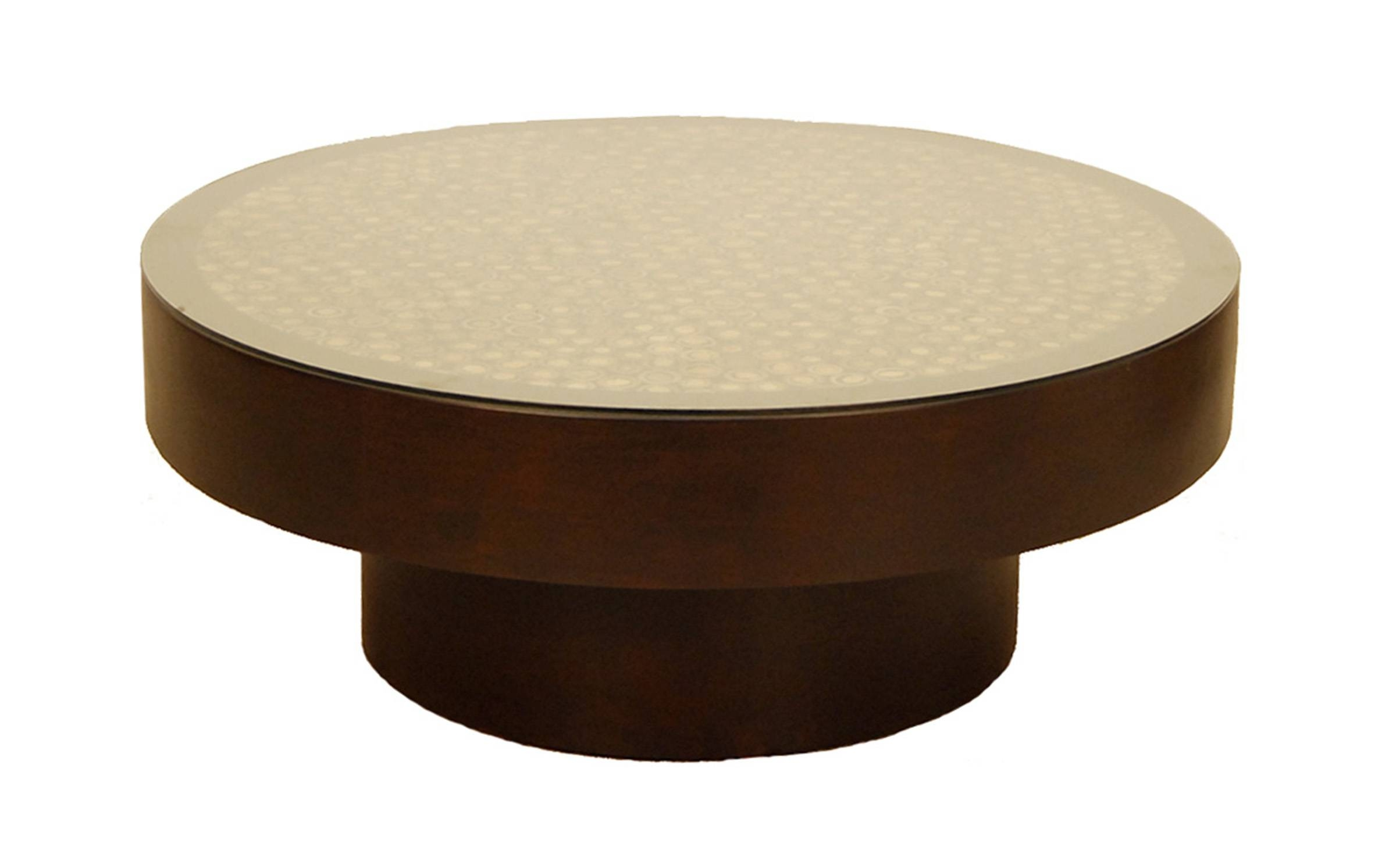Coffee Tables: Best Small Round Coffee Tables Designs Wood Coffee regarding Small Circle Coffee Tables (Image 9 of 30)