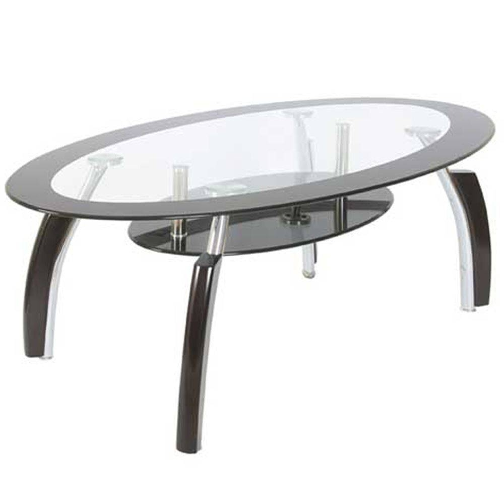 Coffee Tables Cara Elena Elise Glass Top Stainless Steel Modern pertaining to Range Coffee Tables (Image 14 of 30)