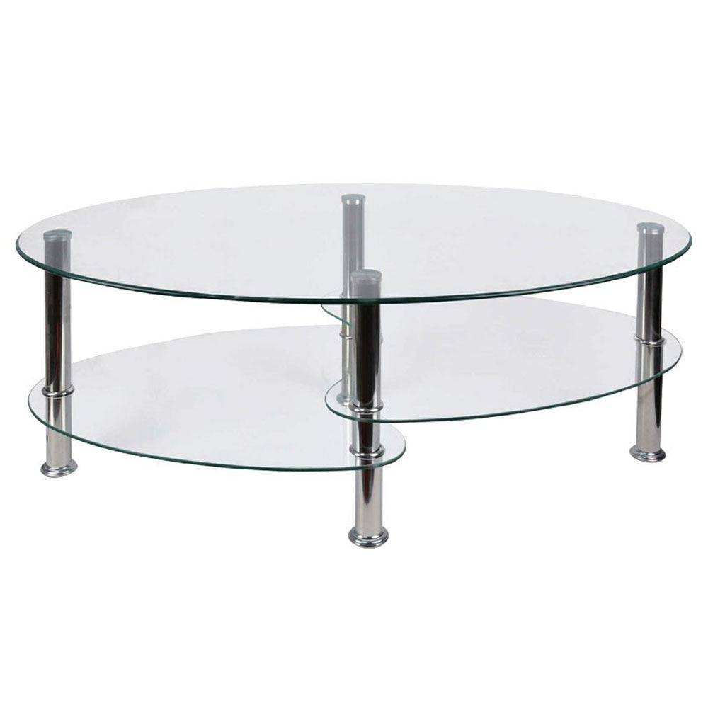 Coffee Tables Cara Elena Elise Glass Top Stainless Steel Modern with regard to Elise Coffee Tables (Image 1 of 30)