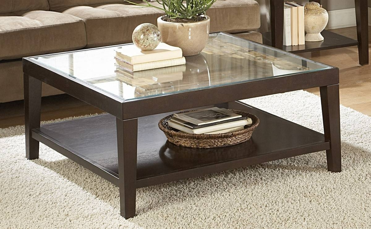 Coffee Tables. Charming Square Coffee Tables Designs: Brilliant throughout Oak Square Coffee Tables (Image 3 of 30)