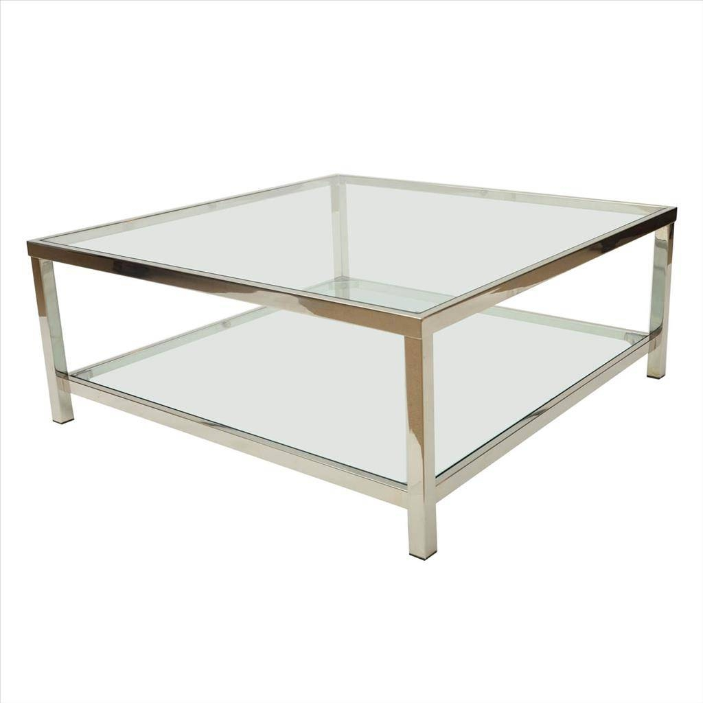 Coffee Tables Designs: Brilliant Chrome And Glass Coffee Table for Glass Chrome Coffee Tables (Image 8 of 30)