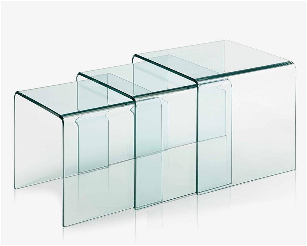 Coffee Tables Designs: Chic Bent Glass Coffee Table Design Ideas with Curved Glass Coffee Tables (Image 14 of 30)