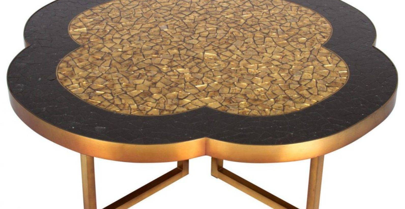 Coffee Tables : Gold Coffee Table Bright Gold Geometric Coffee regarding Verona Coffee Tables (Image 9 of 30)
