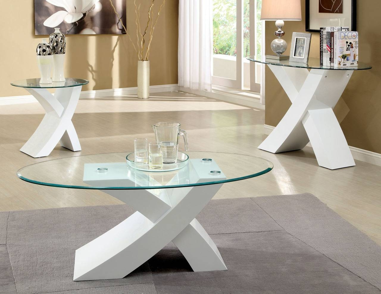 Coffee Tables Ideas: Awesome White Coffee And End Table Sets White within High Quality Coffee Tables (Image 5 of 30)