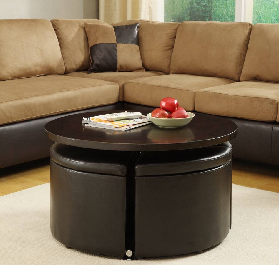 Coffee Tables: Inspiring Round Coffee Tables With Storage Ideas Pertaining To Round Coffee Tables With Storages (Photo 12 of 30)