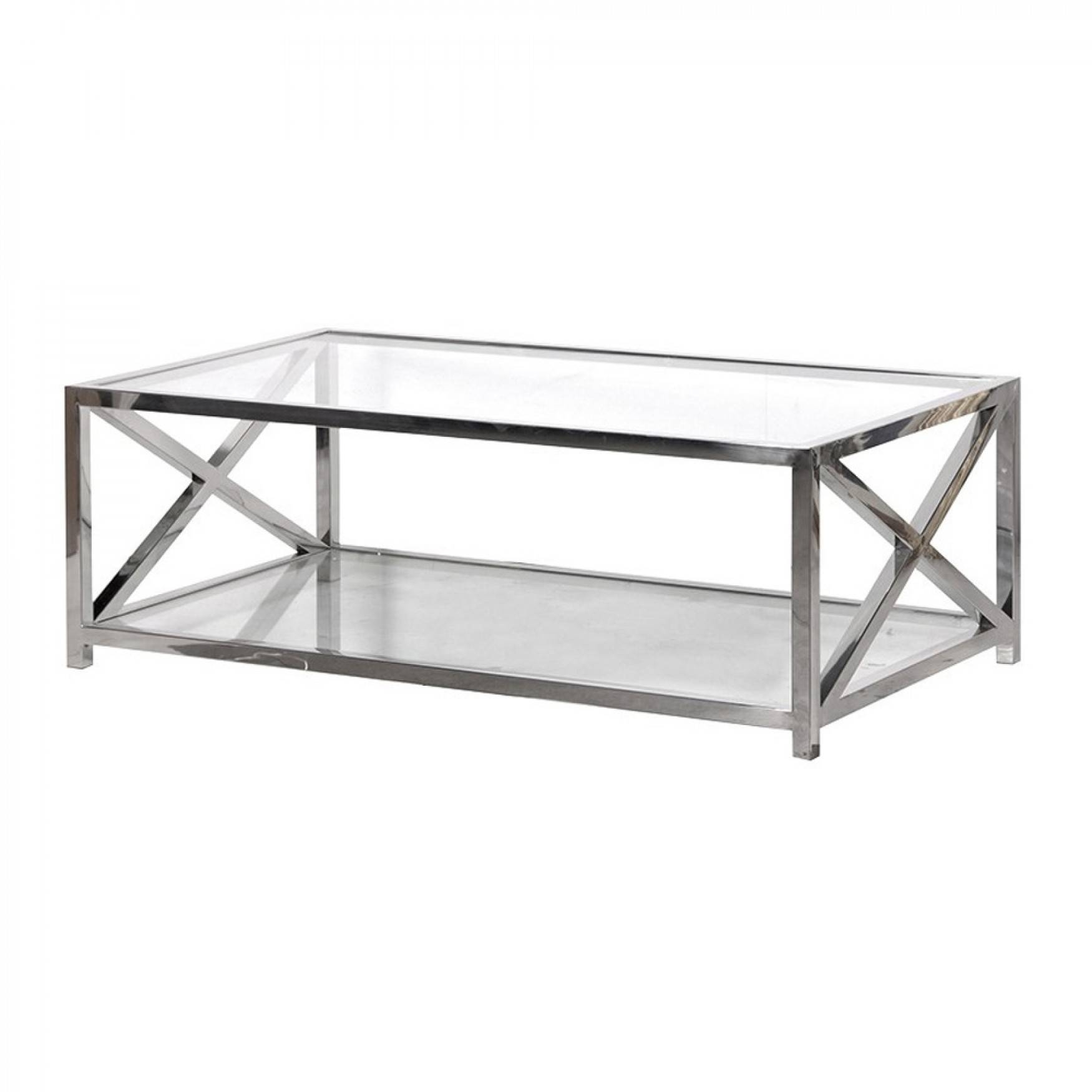Coffee Tables : Large Glass/steel Coffee Table inside Glass Steel Coffee Tables (Image 9 of 30)