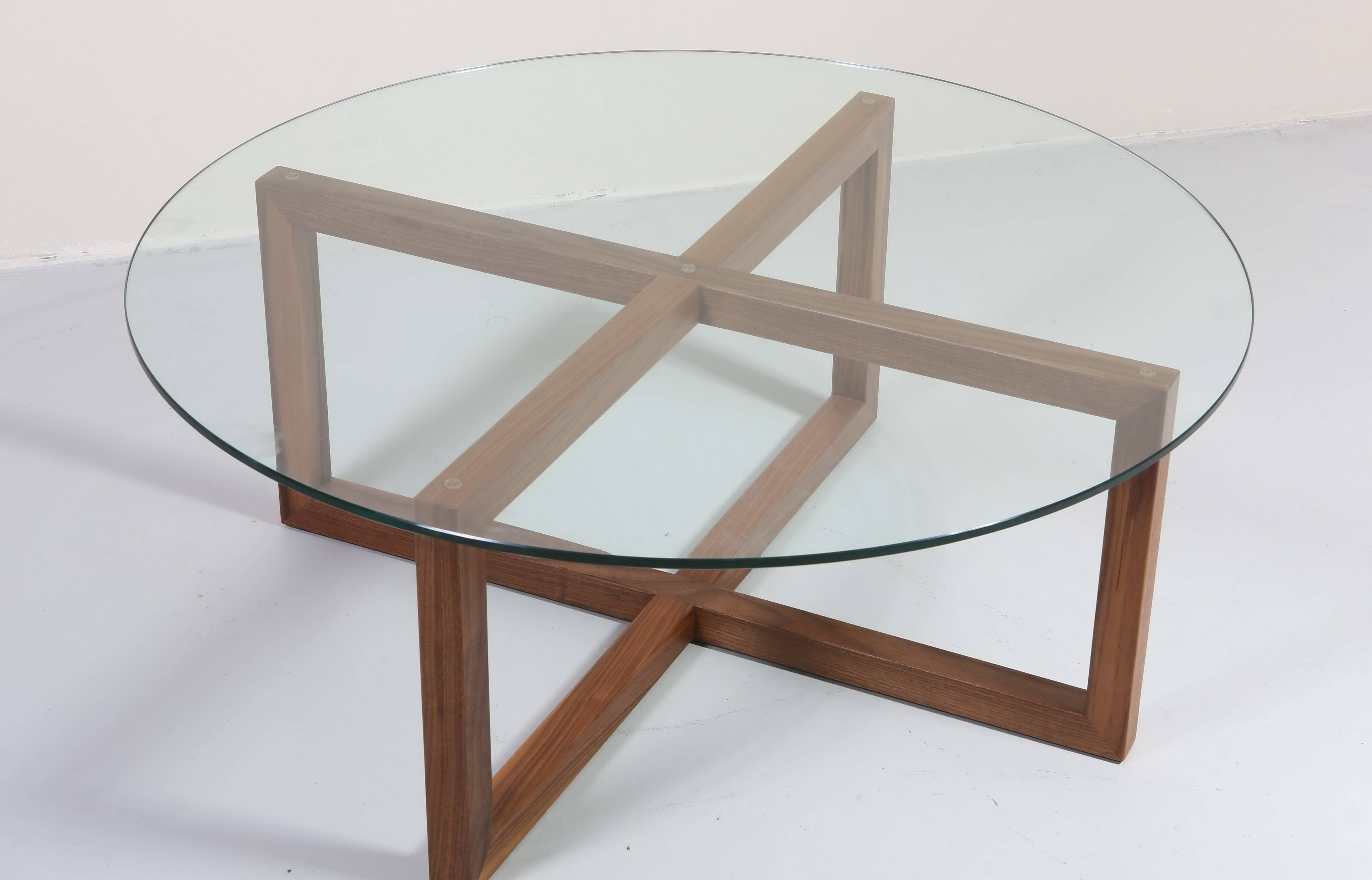 Coffee Tables: Marvellous Round Glass Coffee Tables Designs Large pertaining to Circular Glass Coffee Tables (Image 8 of 30)