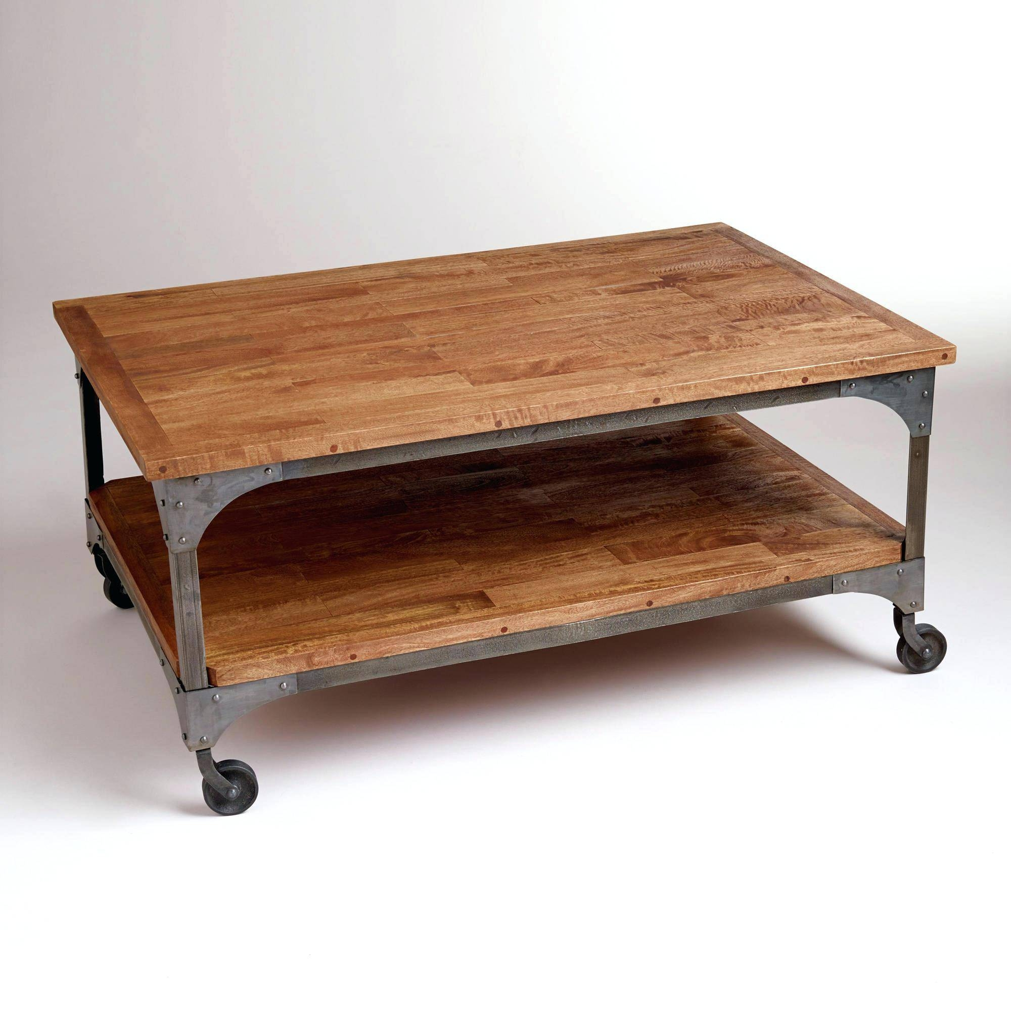 Coffee Tables On Casters | Coffee Tables Decoration pertaining to Coffee Tables With Wheels (Image 13 of 30)