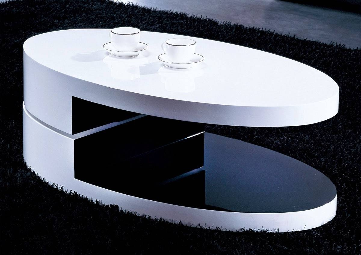 Coffee Tables Oval Shape | Idi Design In Black Oval Coffee Table (Photo 21  Of