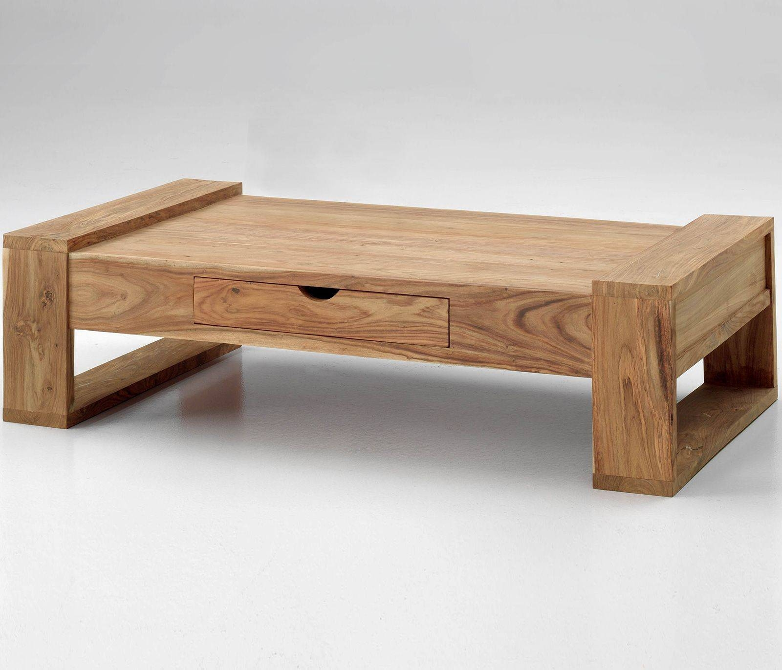 Coffee Tables: Popular Wooden Coffee Tables Design Ideas Wood inside Hardwood Coffee Tables With Storage (Image 10 of 30)