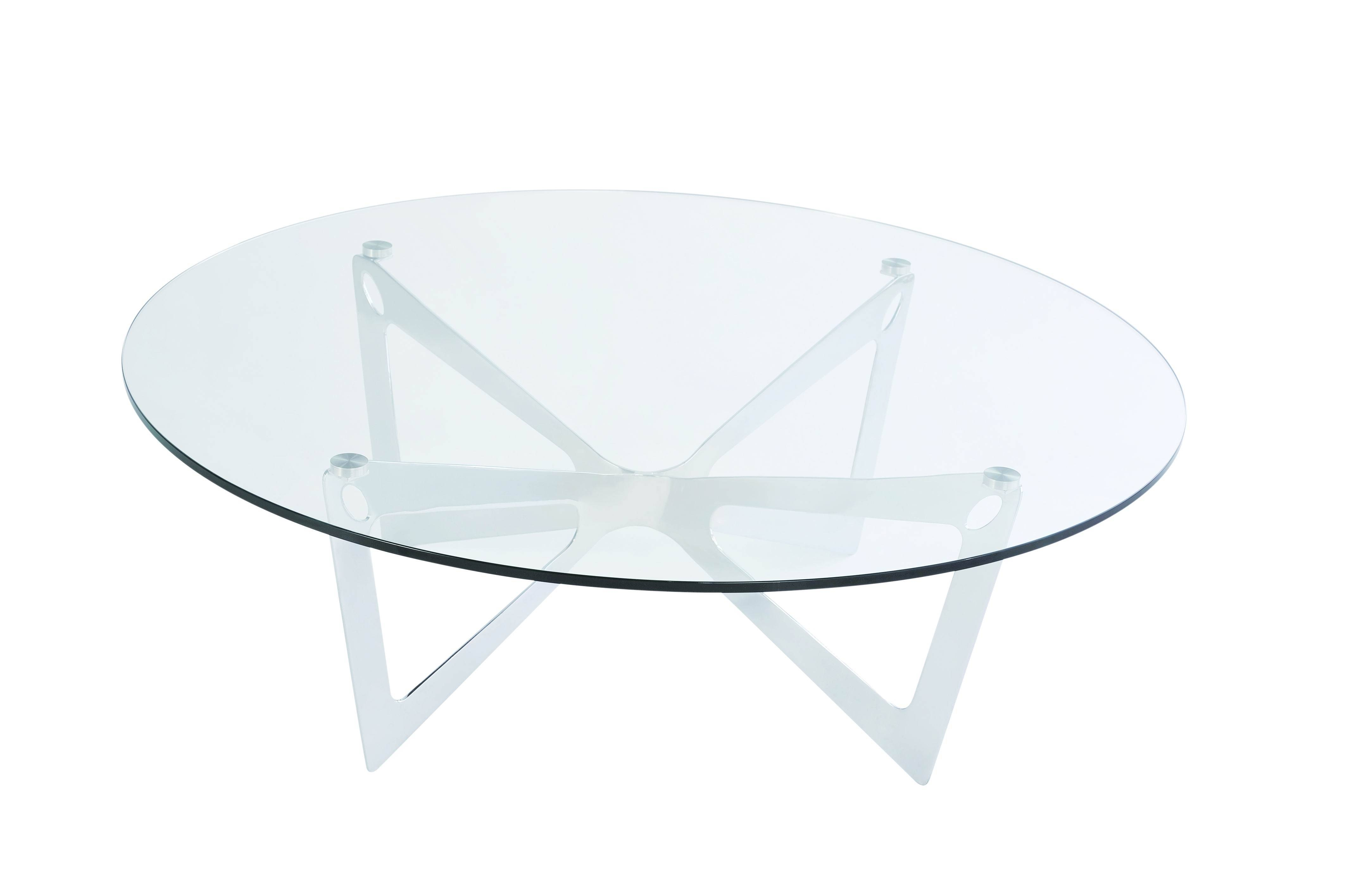 Coffee Tables Round Metal Ion Glass Round Coffee Table pertaining to Round Steel Coffee Tables (Image 13 of 30)