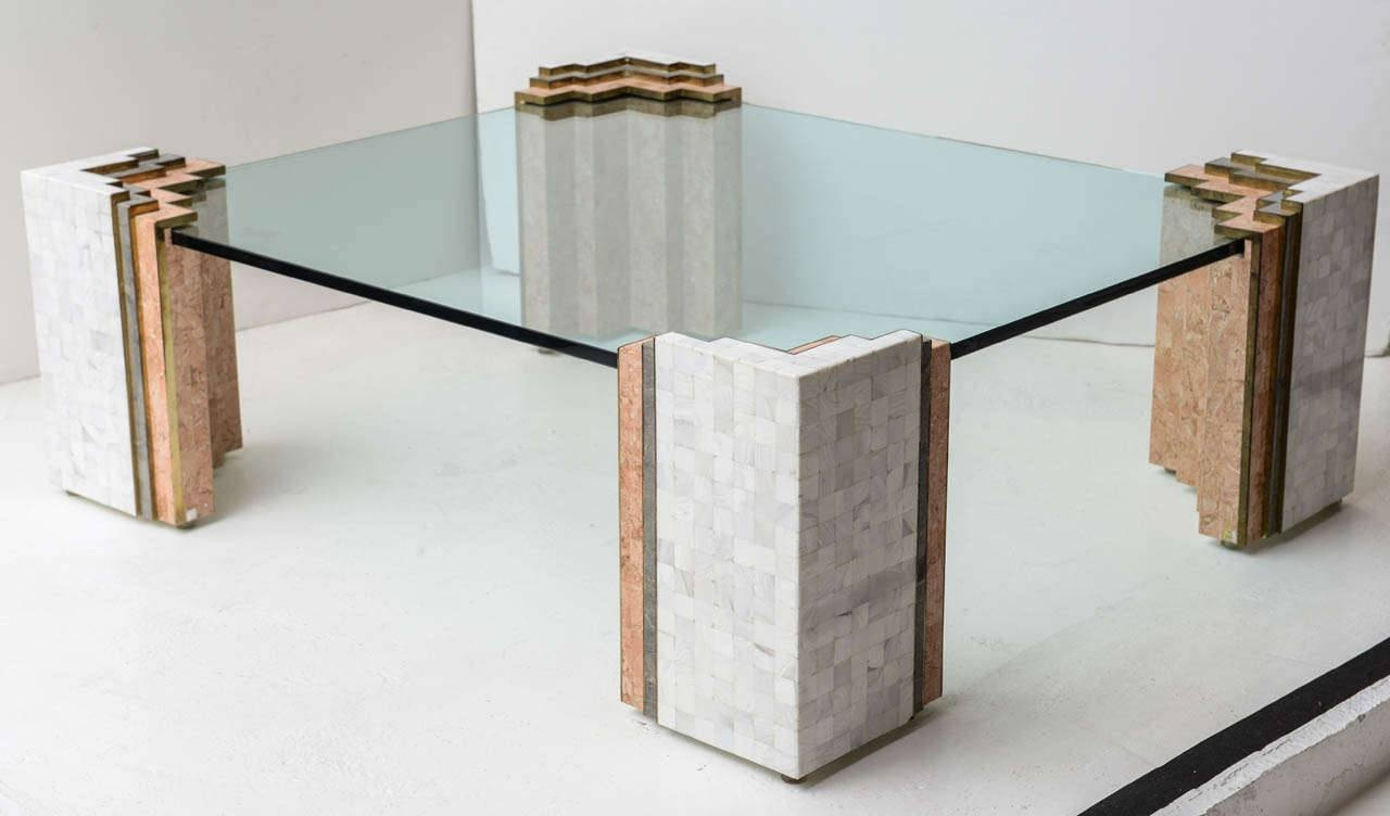 Coffee Tables: Stunning Stone Coffee Tables Designs Stone Glass With Square Stone Coffee Tables (View 15 of 30)