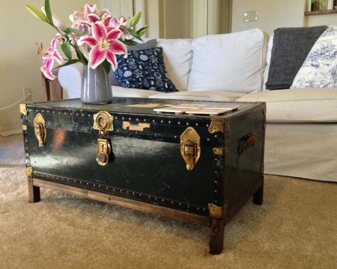 Coffee Tables : Trunk As Coffee Table Miracle Chest Trunk Storage pertaining to Trunk Chest Coffee Tables (Image 6 of 30)