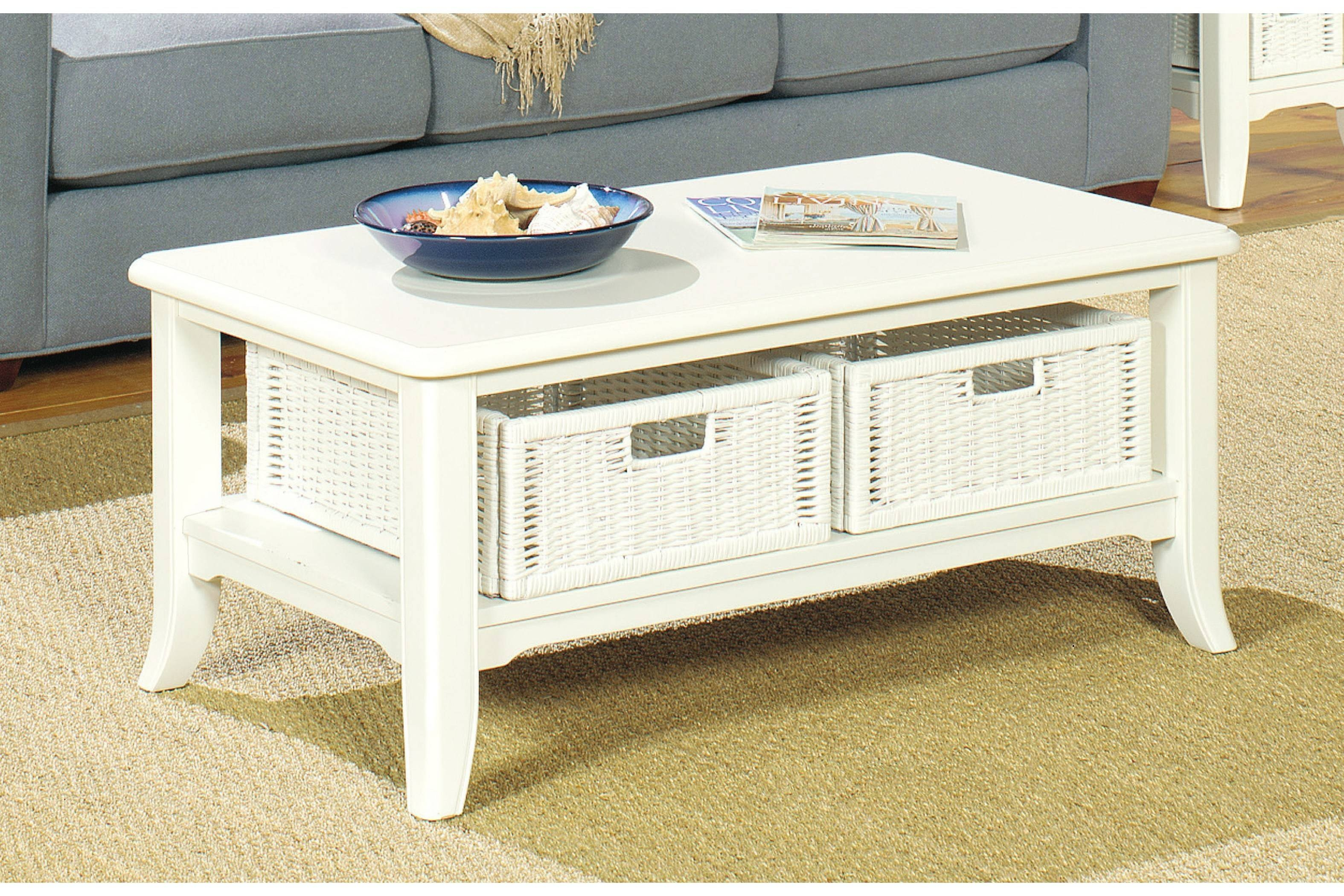 2018 best of coffee table with wicker basket storage geotapseo Gallery