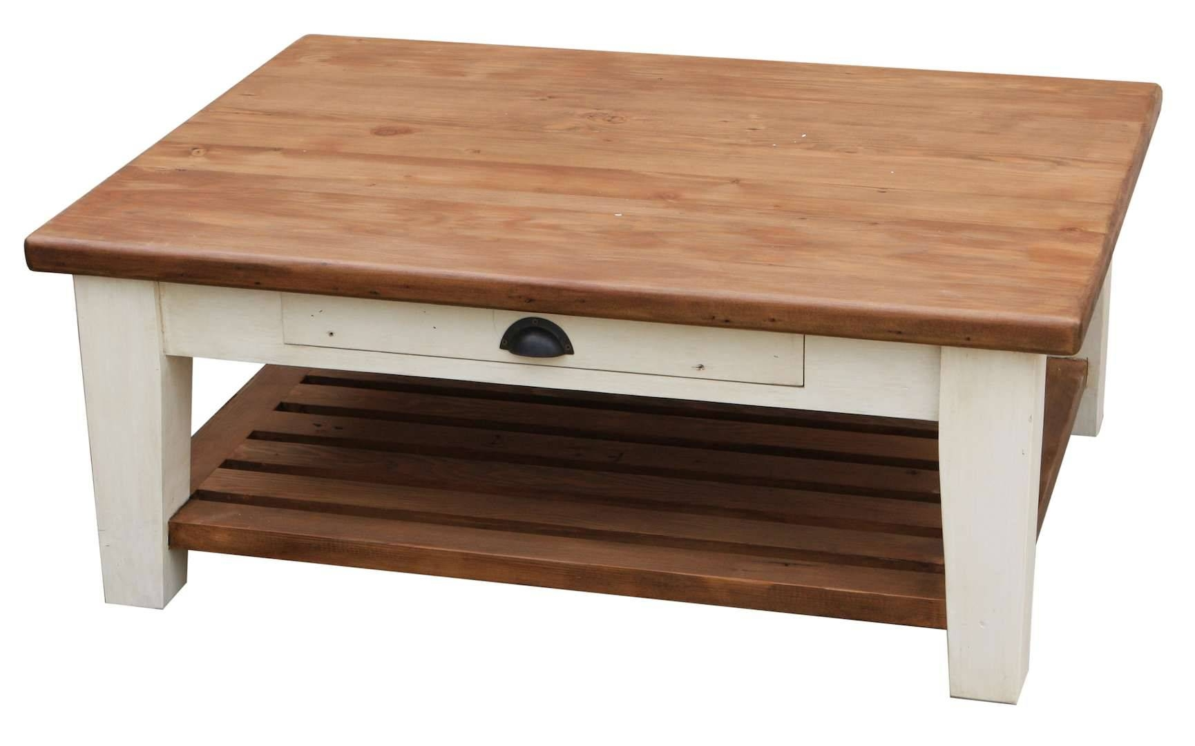 White Wood Coffee Table With Drawers Home Decor Ideas