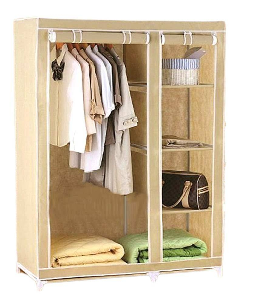Collapsible Wardrobe In Cream: Buy Online At Best Price In India within Cream Wardrobes (Image 3 of 15)