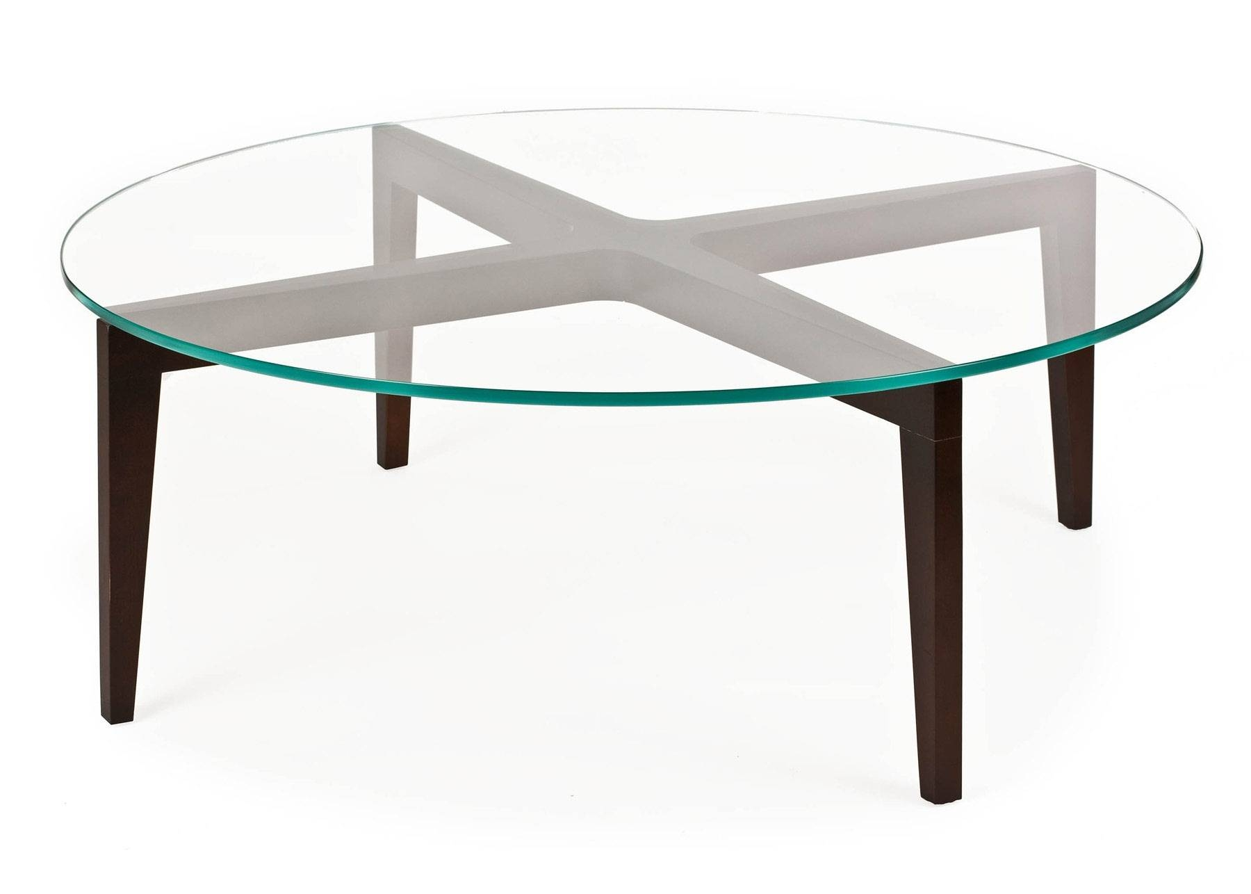 Collection Round Wood Coffee Table With Glass Top Tanner Round with Round Glass and Wood Coffee Tables (Image 6 of 30)