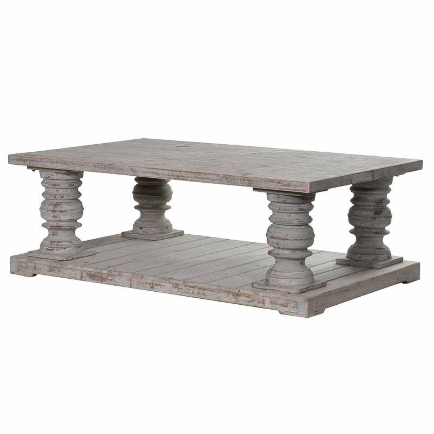 Large Distressed Wood Coffee Table: 30 The Best Chunky Wood Coffee Tables