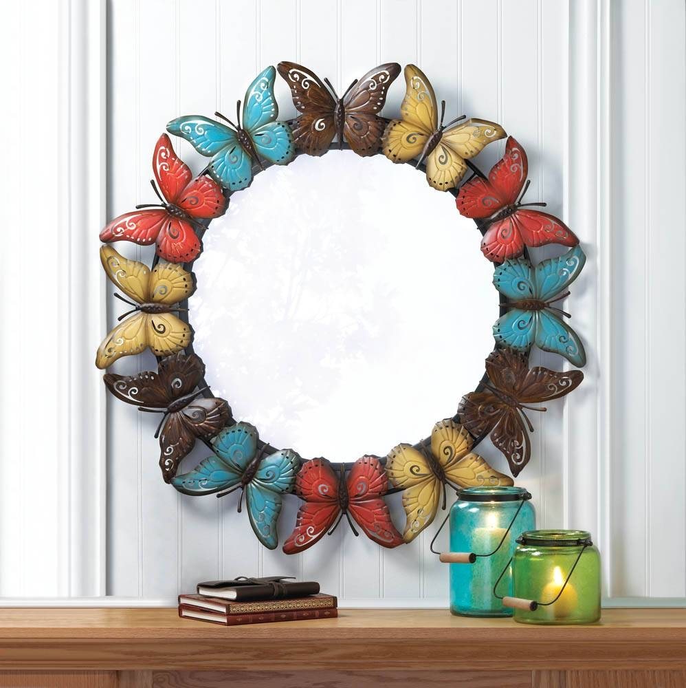 Colorful Butterfly Wall Mirror Wholesale At Koehler Home Decor within Butterfly Wall Mirrors (Image 4 of 25)