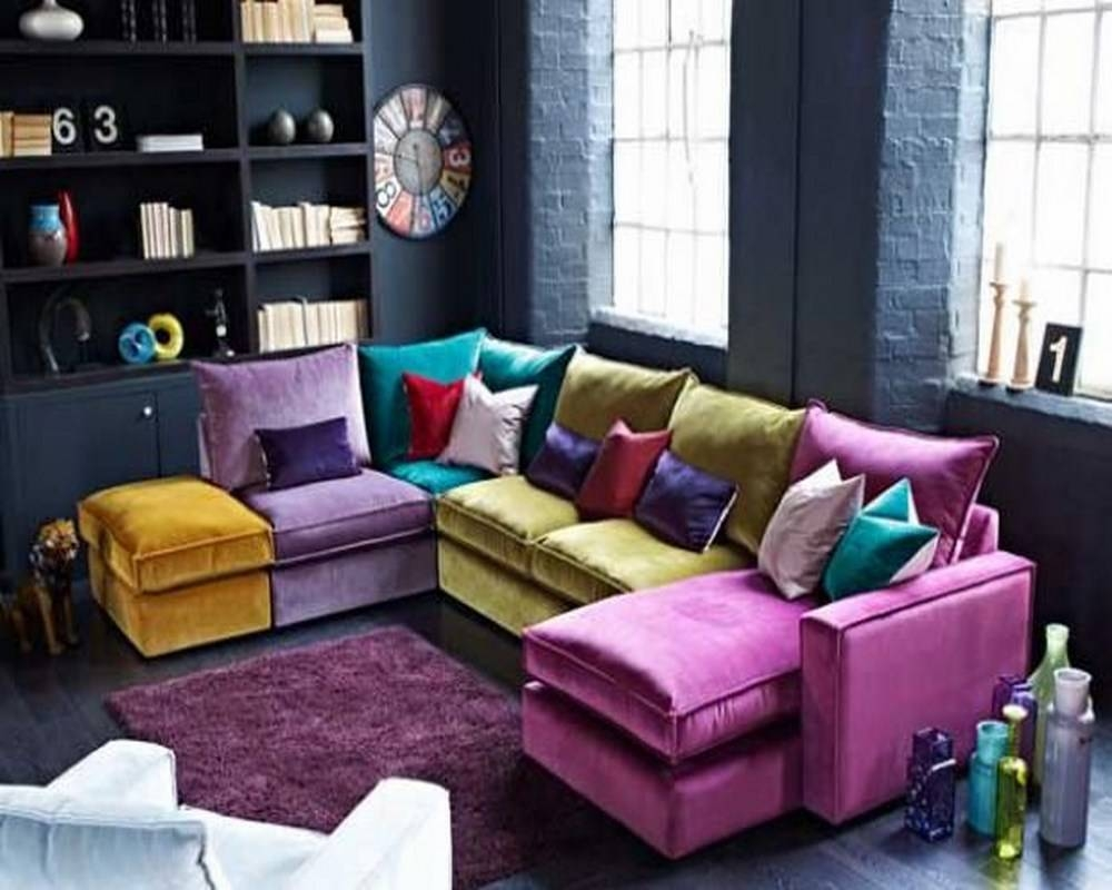 Colorful Sectional Sofas - Leather Sectional Sofa pertaining to Colorful Sectional Sofas (Image 7 of 30)