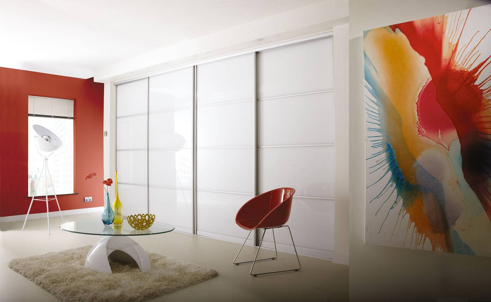 Coloured Glass Sliding Wardrobe Doors throughout Coloured Wardrobes (Image 6 of 15)