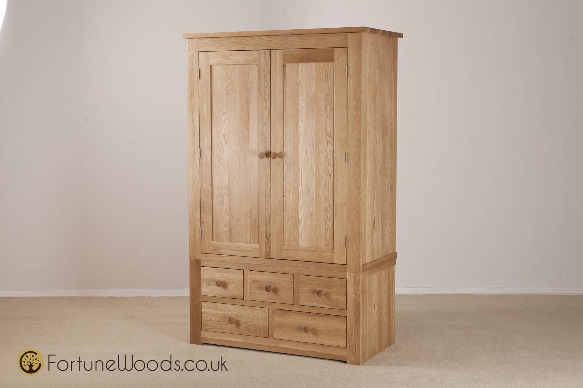 Combi Wardrobe 3 Over2 Drawers From Fortune Woods with regard to Combi Wardrobes (Image 4 of 15)