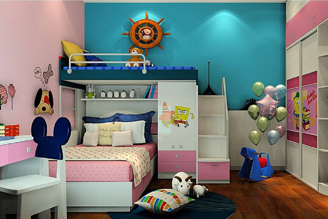 Combination Of Wardrobe And Loft Beds For Children's Bedroom with regard to Bed and Wardrobes Combination (Image 11 of 15)