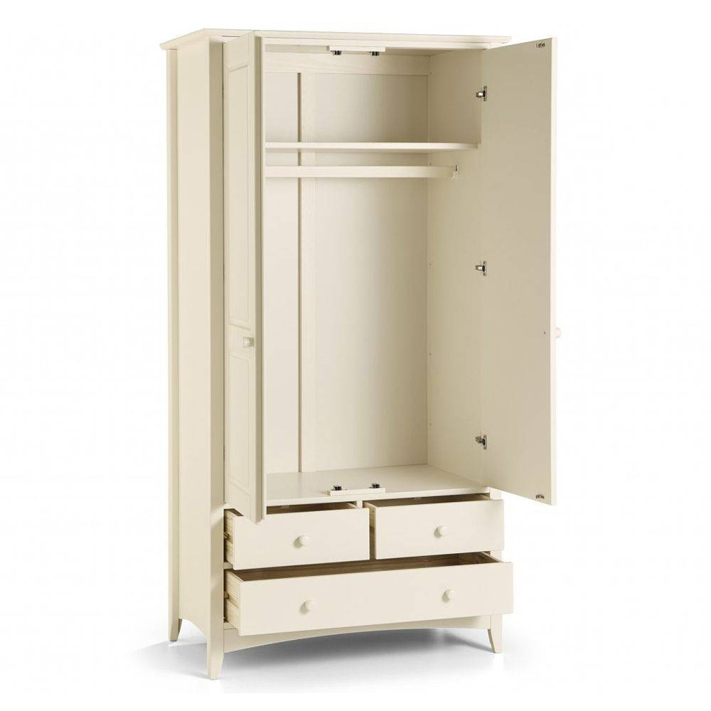 Combination Wardrobe With 3 Drawers | Cameo inside White Double Wardrobes With Drawers (Image 7 of 15)