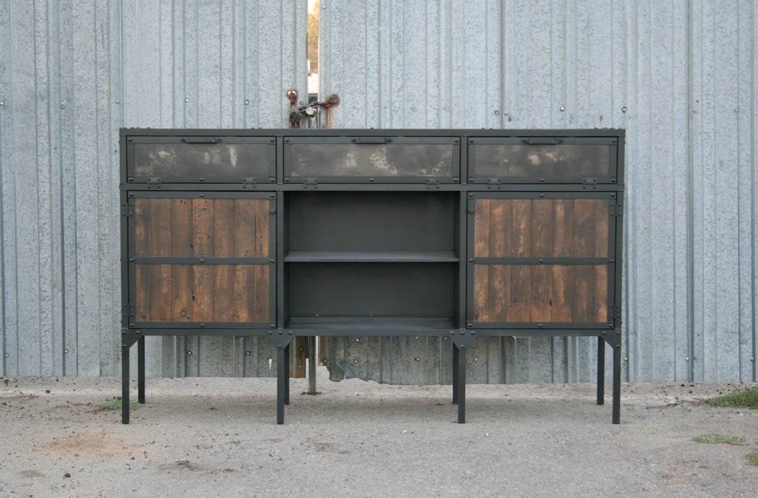 Combine 9 | Industrial Furniture – Rustic Furniture – Distressed pertaining to Distressed Wood Sideboards (Image 6 of 30)