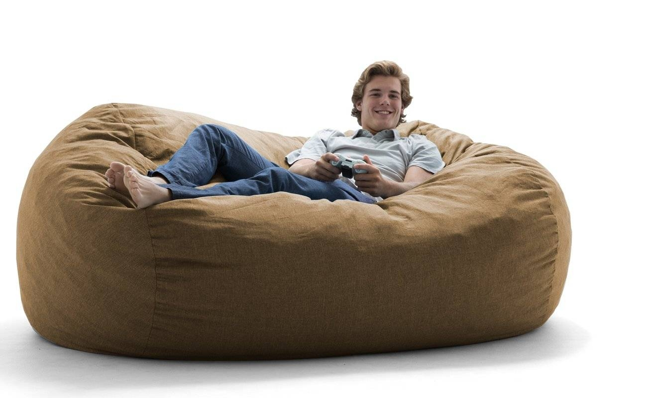 Comfort Research Big Joe Lux Bean Bag Sofa & Reviews | Wayfair throughout Bean Bag Sofa Chairs (Image 6 of 15)