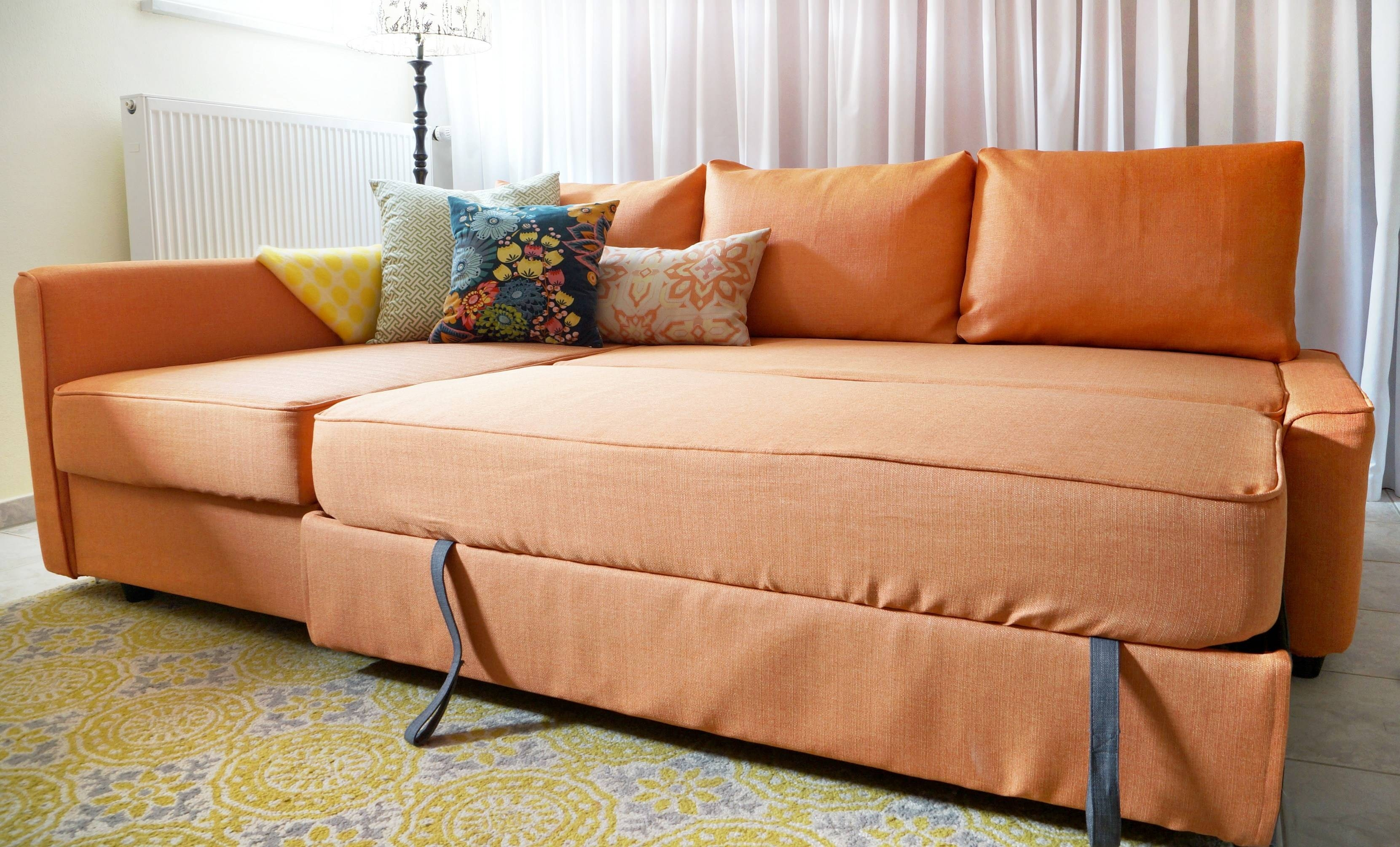 Comfort Works Friheten Slipcover Review in Orange Ikea Sofas (Image 5 of 30)