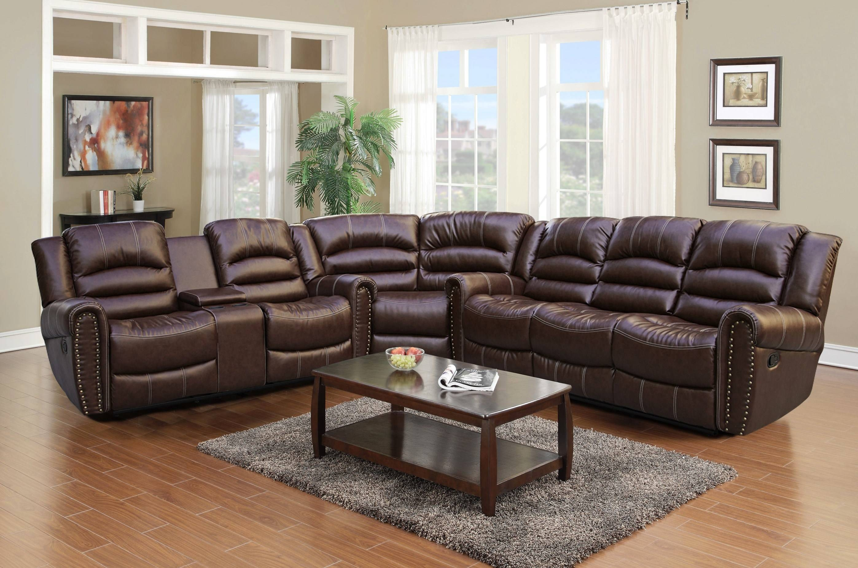 Comfortable Leather Sectional Sofa With Recliner And Chaise for Comfortable Sectional Sofa (Image 10 of 30)