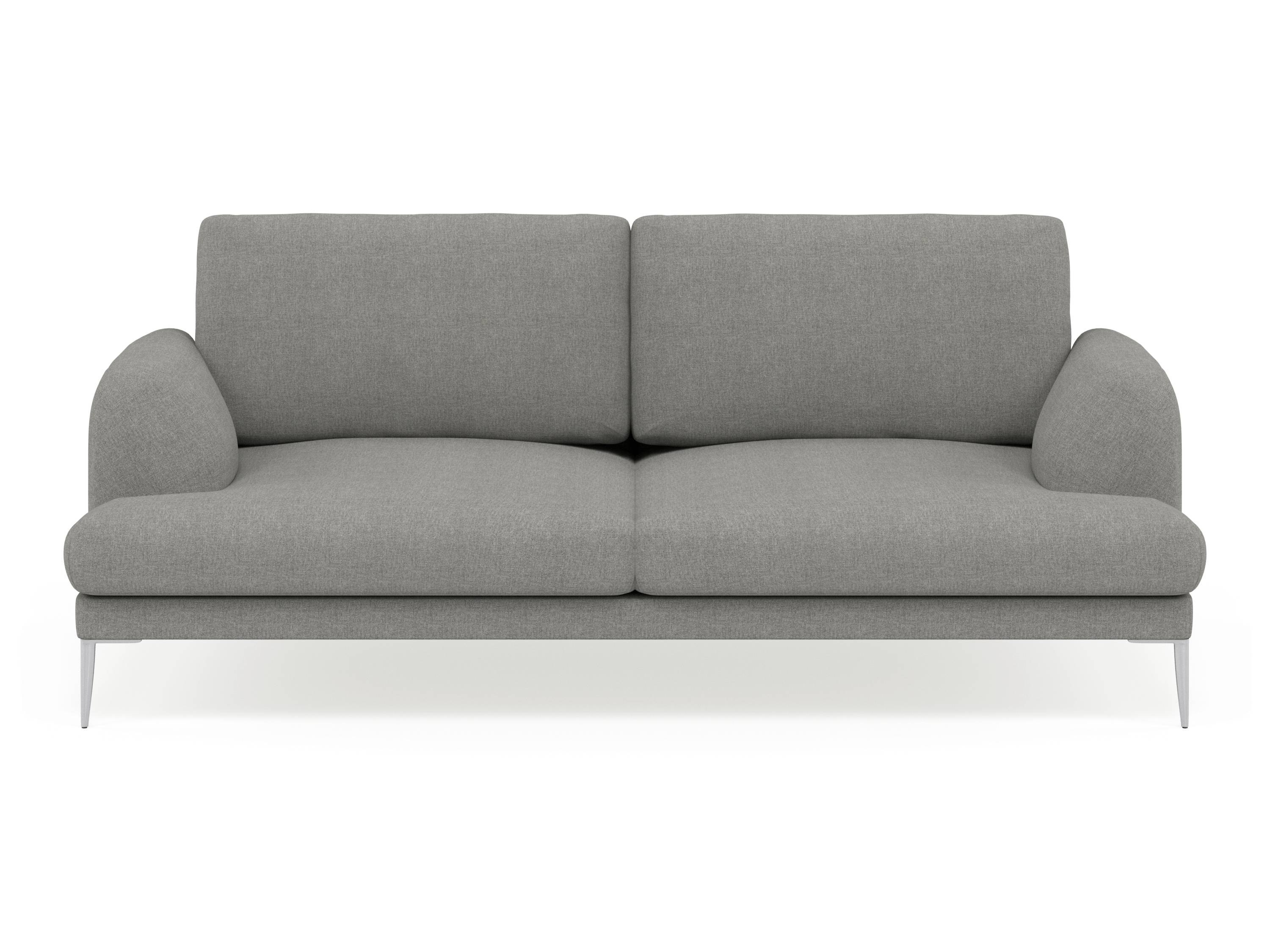 Compact 2 Seater Sofa - Leather Sectional Sofa intended for Small 2 Seater Sofas (Image 4 of 30)