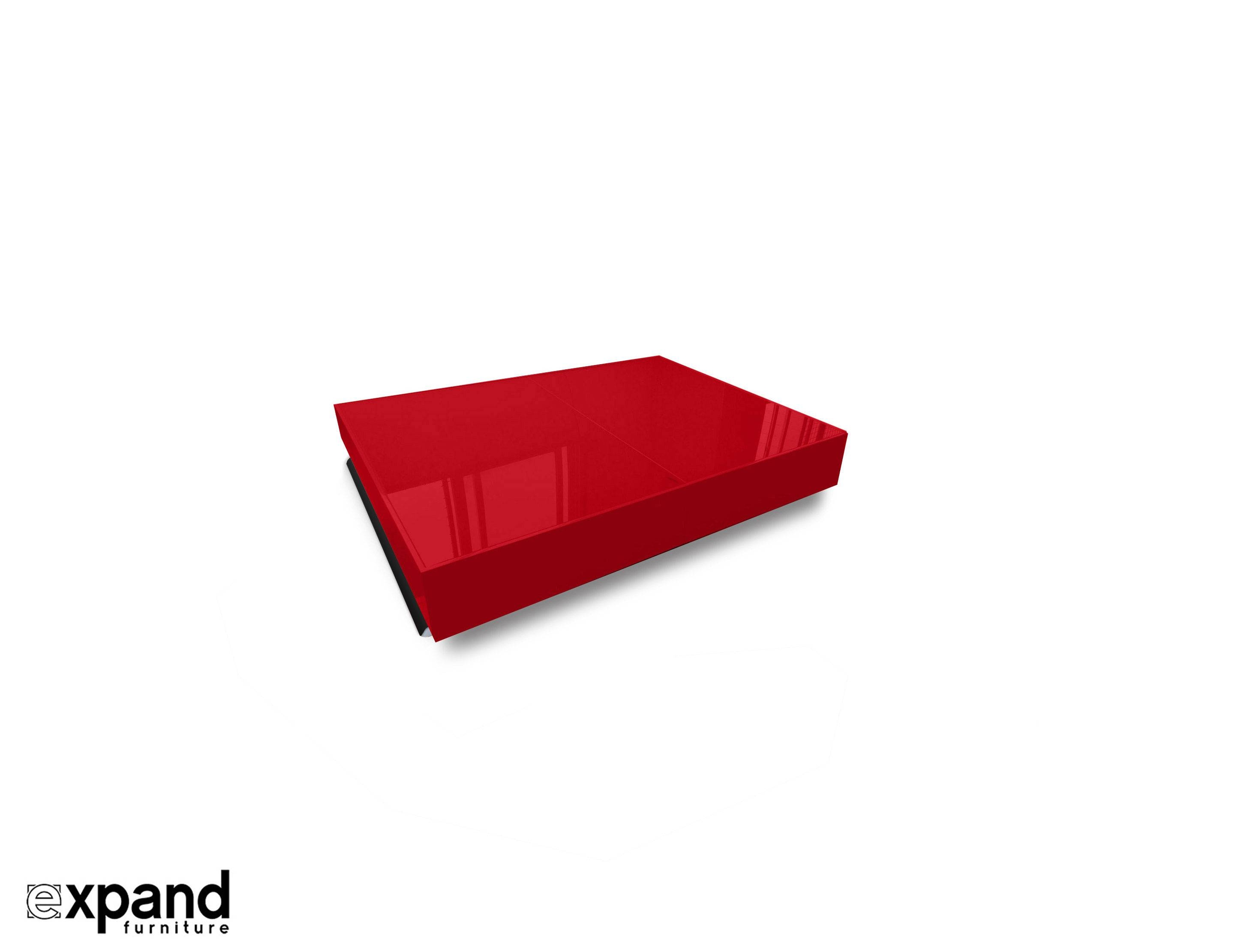 Compact Box Coffee - Table That Changes To A Dinner Table | Expand with regard to Red Coffee Table (Image 10 of 30)