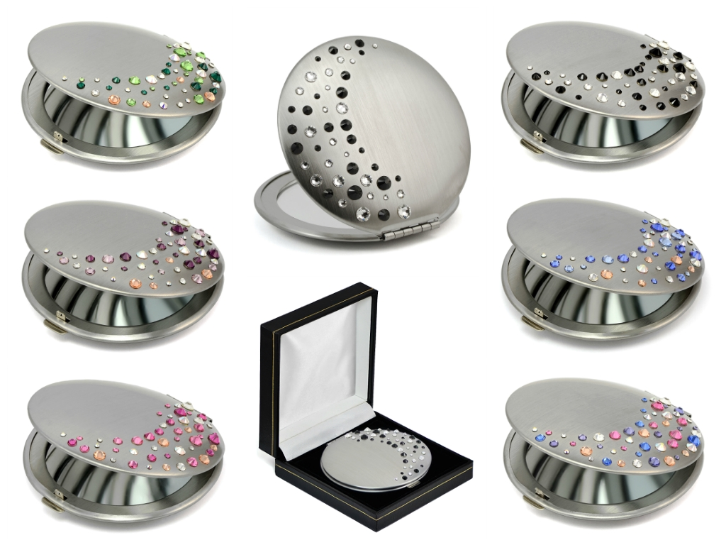 Compact Mirrors With Swarovski Elements From Mont Bleu pertaining to Swarovski Mirrors (Image 14 of 25)