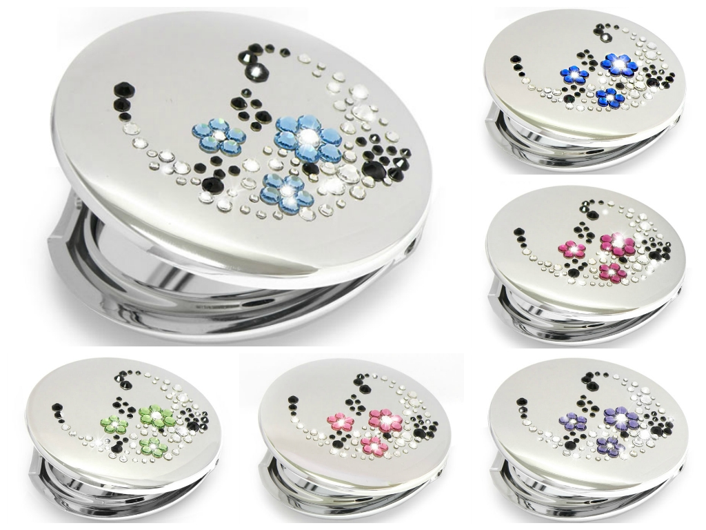 Compact Mirrors With Swarovski Elements From Mont Bleu with regard to Swarovski Mirrors (Image 15 of 25)