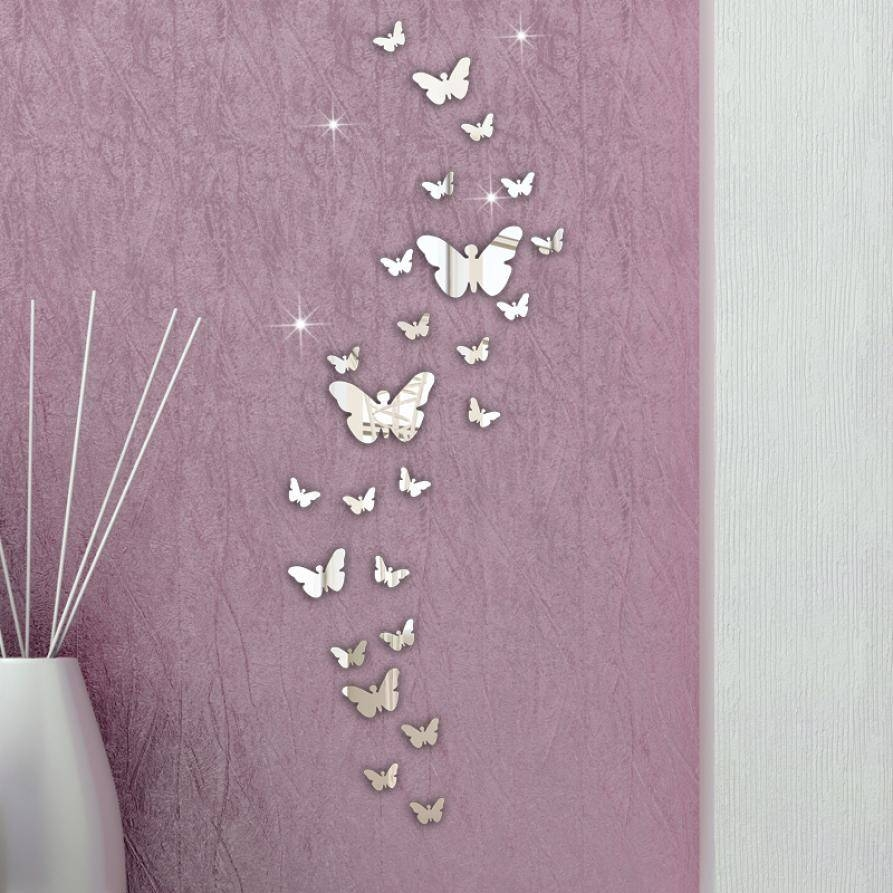 Compare Prices On Butterfly Wall Mirror- Online Shopping/buy Low inside Butterfly Wall Mirrors (Image 7 of 25)