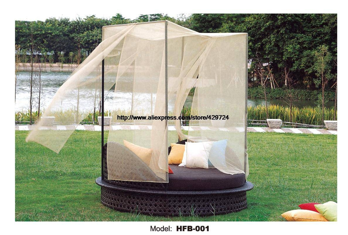 Compare Prices On Rattan Bed Furniture- Online Shopping/buy Low intended for Outdoor Sofas With Canopy (Image 6 of 30)